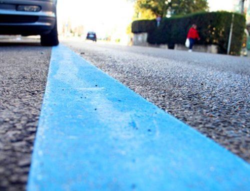 Suspension des zones bleues de stationnement